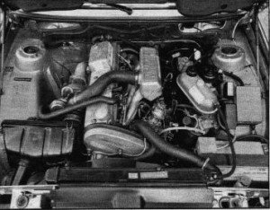 This is what it looked like in the engine compartment of the BMW 524 td