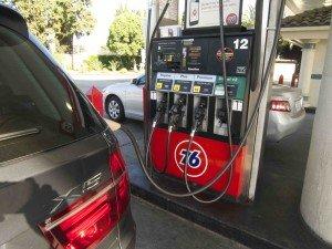 Diesel petrol pump in Los Angeles