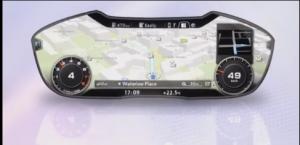 Virtuelles Cockpit im nächsten Audi TT: Der Fahrer kann sich sein Display nach Bedarf gestalten.