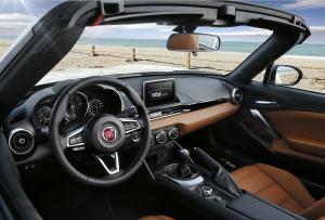 Das Cockpit ist sportlich  knapp geschnitten Fotos: Fiat