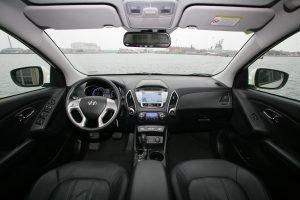 Der Innenraum unterscheidet sich kaum vom normalen ix35  Fotos:Hyundai