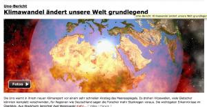 Dramatische Aufmachung zum Klimabericht auf Spiegel online
