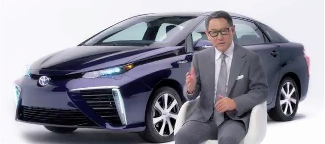 Akio Toyoda stellt den Mirai in einer Videobotschaft vor